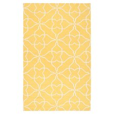Frontier Sunshine Yellow/White Rug