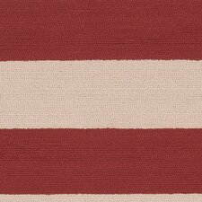 Rain Carnelian/Parchment Striped Indoor/Outdoor Rug
