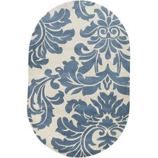 Athena Slate Blue/Antique White Rug