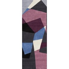 Cosmopolitan Prune Purple/Charcoal Gray Rug