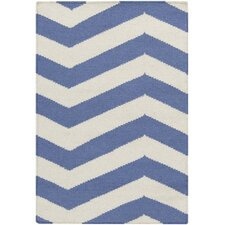 Frontier Periwinkle/White Rug