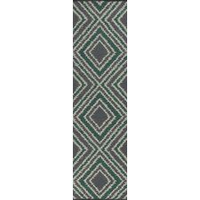 Juniper Winter White/Emerald Green Rug