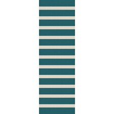 <strong>Surya</strong> Frontier Ivory/Teal Green Striped Rug