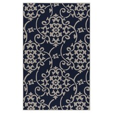 Cosmopolitan Dark Robin's Egg Blue/Silver Cloud Rug