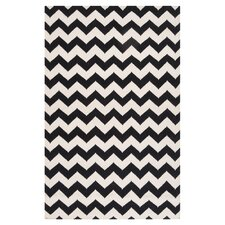 Frontier Jet Black/Winter White Rug