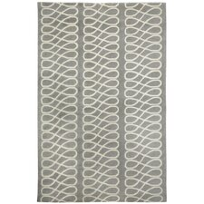 Cococozy Light Charcoal Cream Twirl Rug