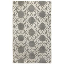Cococozy Light Charcoal Cream Princeton Rug