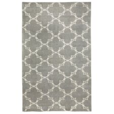 Cococozy Light Charcoal Cream Yale Rug