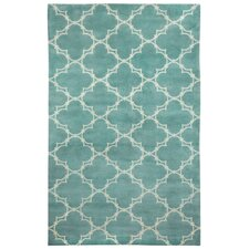 Cococozy Pale Blue Cream Yale Rug