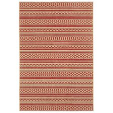 Elsinore Red Pepper Afghan Indoor/Outdoor Rug