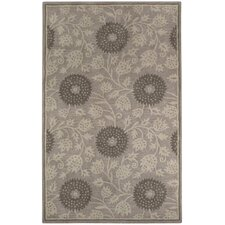 <strong>Capel Rugs</strong> Williamsburg Beige Patricia Polka Dots/Vines Rug