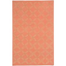 Williamsburg Cantaloupe Linc Rope Graphic Rug