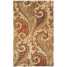 Williamsburg Zest Multi Boteh Teardrop Rug