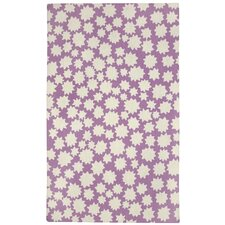 Heavenly Purple/White Area Rug