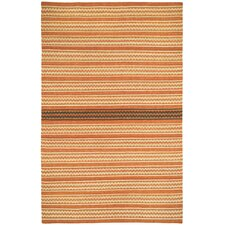 Barred Sunny Deep Grey Striped Area Rug