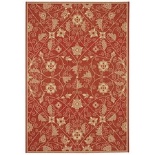 Elsinore Garden Maze Poppy Indoor/Outdoor Rug