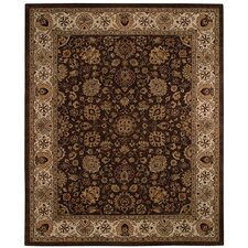 <strong>Capel Rugs</strong> Forest Park Medallions Dark Coffee Rug