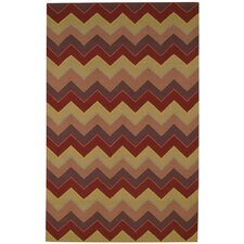 <strong>Capel Rugs</strong> Irish Stitch Berry/Khaki Rug