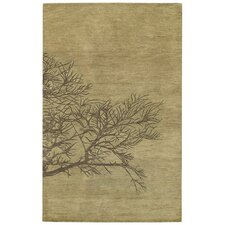 Desert Plateau Shadow Branch Green Moss Rug