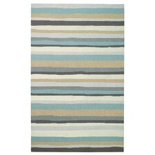 Intrique Green Stripe Rug