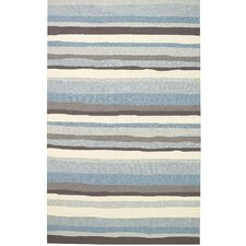 Intrique Blue Stripe Rug