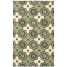 Intrique Green Medallion Rug