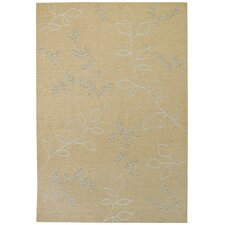Walkover Ecru Leaf Rug