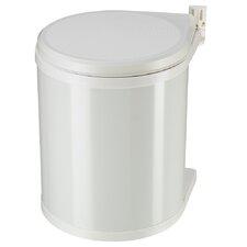 """Einbau-Abfallsammler 15 """"Compact-Box"""" aus Stahlblech in Reinweiß"""