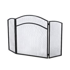 <strong>Uniflame Corporation</strong> 3 Panel Wrought Iron Center Arch Fireplace Screen