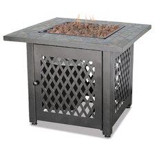 Gas Firebowl With Slate Tile Mantel Fire Pit