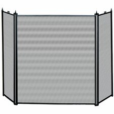 3 Panel Matte Fireplace Screen