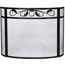 <strong>Uniflame Corporation</strong> 3 Panel Wrought Iron Bow Fireplace Screen