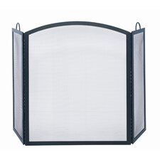 <strong>Uniflame Corporation</strong> 3 Panel Wrought Iron Arch Top Fireplace Screen