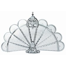 Pewter Ornate Fan Fireplace Screen