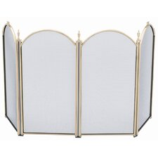 Mini Polished Brass Fireplace Screen