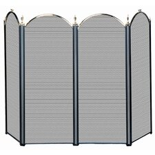 4 Panel Fireplace Screen