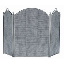 <strong>Uniflame Corporation</strong> 3 Panel Satin Pewter Panel Fireplace Screen