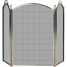 Solid Brass Premium Fireplace Screen