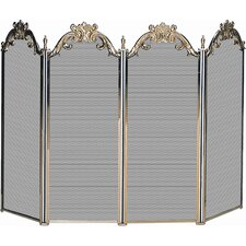 Cast Solid Brass Fireplace Screen