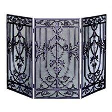 3 Fold Bronze Cast Aluminum Screen