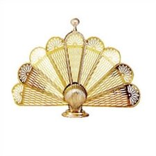 Brass Shell Fan Fireplace Screen
