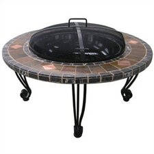 <strong>Uniflame Corporation</strong> Outdoor Slate Mantel with Copper Accents Fire Pit