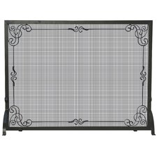 1 Panel Wrought Iron Fireplace Screen