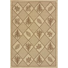 Solarium Pine Brown Indoor/Outdoor Rug