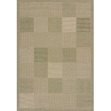 Solarium Green Patio Block Indoor/Outdoor Rug