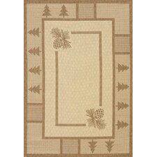 Solarium Pine Brown Court Indoor/Outdoor Rug