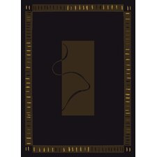 China Garden Vanguard Black Rug