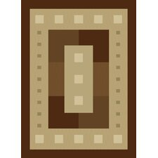 China Garden Mystic Square Chocolate Rug