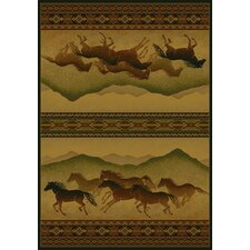 <strong>United Weavers of America</strong> Genesis Chestnut Mare Lodge Novelty Rug