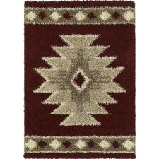 Aurora Southwest Icon Cranberry Rug